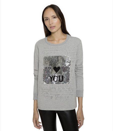 SOCCX Sweater mit Wende-Pailletten