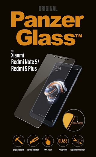 PanzerGlass Schutzglas »Xiaomi Redmi Note5/Redmi 5Plus, Clear Edge to Edge«