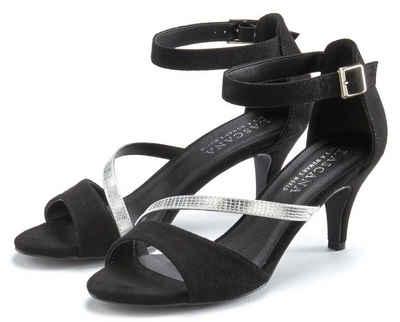 LASCANA Sandalette mit Metallic Riemen
