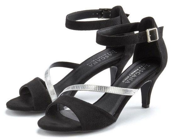 LASCANA Sandalette mit Metallic-Riemen