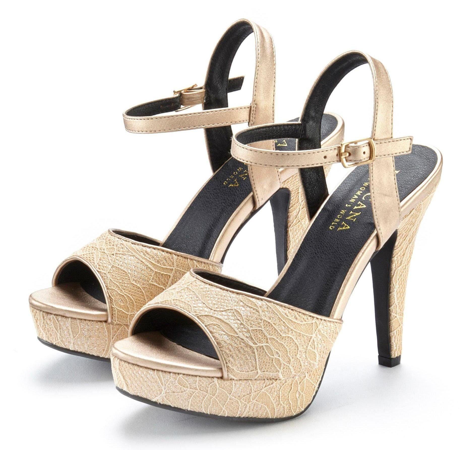 LASCANA High Heel Sandalette mit raffinierten Spitzendetails online kaufen | OTTO
