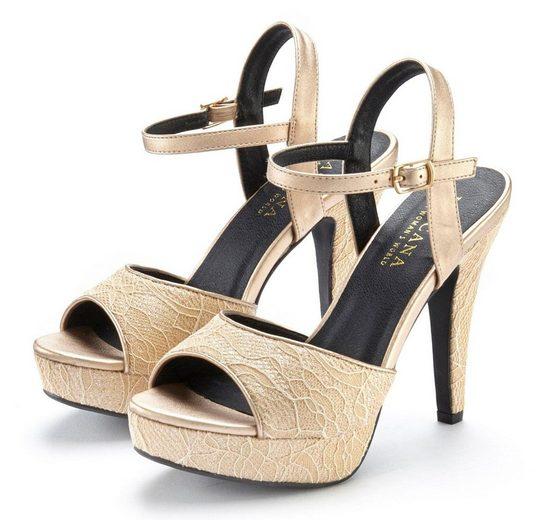LASCANA High-Heel-Sandalette mit raffinierten Spitzendetails