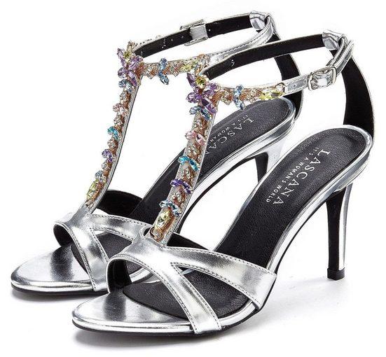LASCANA High-Heel-Sandalette mit Schmucksteinen