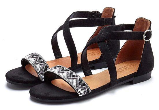 LASCANA Sandale mit Schmucksteinen