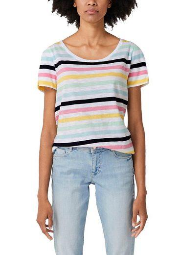 s.Oliver T-Shirt mit top modischen Schlitzen auf der Schulter