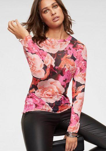 Melrose Netzshirt in trendy Neonfarben