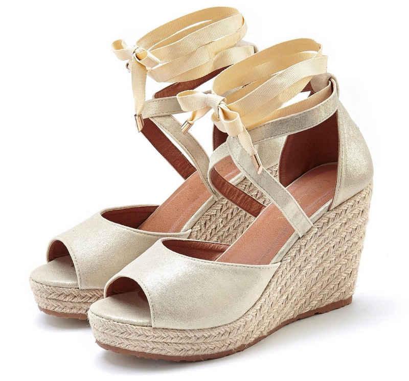 LASCANA High-Heel-Sandalette mit Keilabsatz im Espadrille-Look