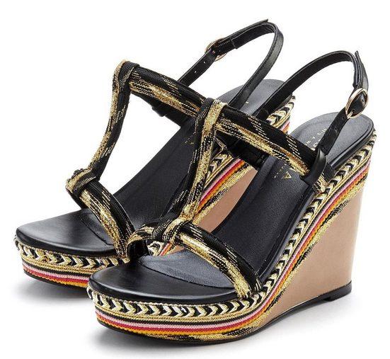 LASCANA High-Heel-Sandalette mit Keilabsatz