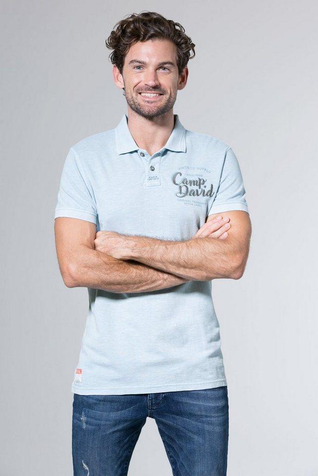 outlet store sale uk store sports shoes CAMP DAVID Poloshirt mit verlängerter Rückenpartie | OTTO
