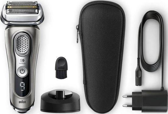 Braun Elektrorasierer Series 9 9345s, SmartClick-Präzisionstrimmer, mit Ladestation