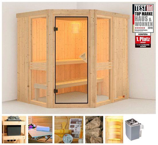 KONIFERA Sauna »Metta 1«, 196x170x198 cm, 9 kW Ofen mit int. Steuerung
