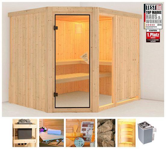 KONIFERA Sauna »Antero 3«, 231x196x198 cm, 9 kW Ofen mit int. Steuerung