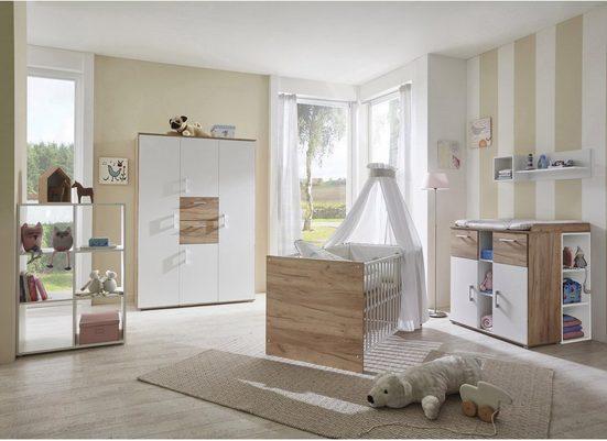 arthur berndt Babyzimmer-Komplettset »Anna«, (Set, 3-St), Made in Germany; mit Kinderbett, Schrank und Wickelkommode