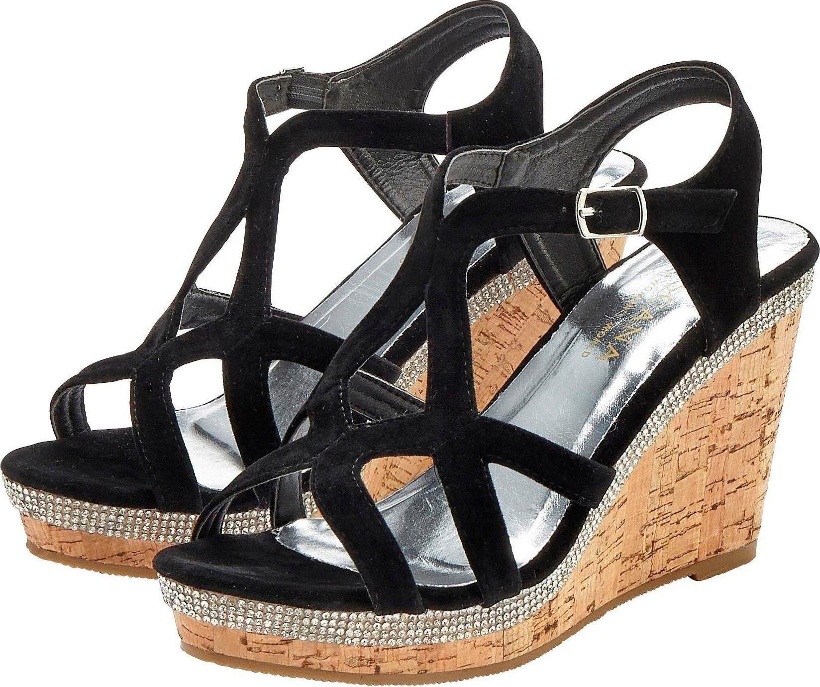 LASCANA High Heel Sandalette mit Keilabsatz und Strasssteinen online kaufen | OTTO