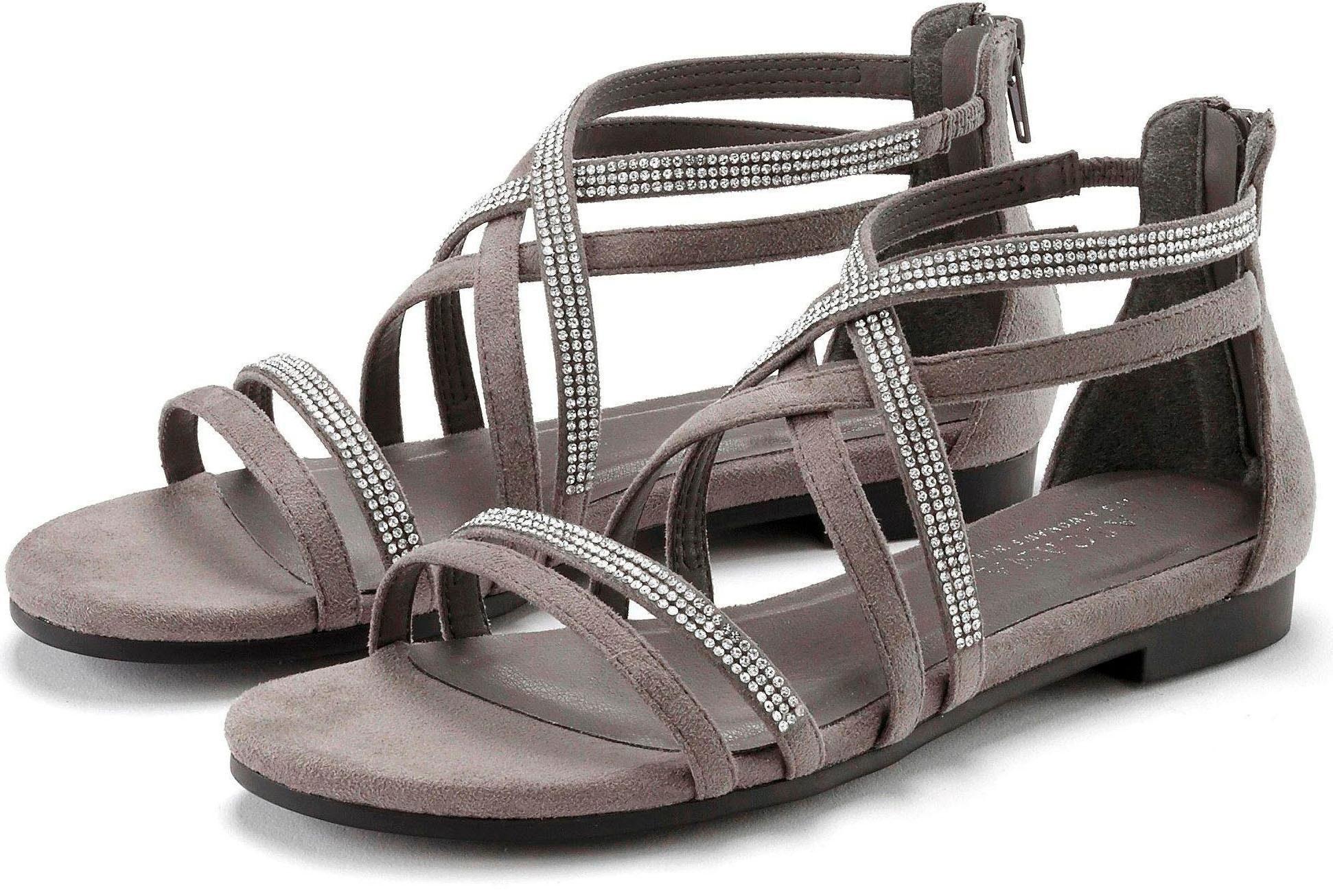 Marco Tozzi Damen Sandale Blockabsatz  NEU!! grau weiche Lederinnensohle