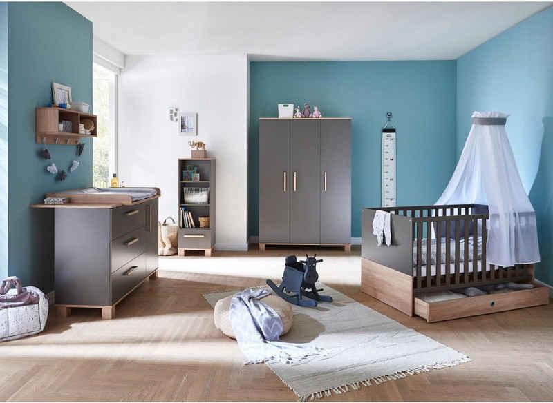 arthur berndt Babyzimmer-Komplettset »Cloe«, (Set, 3-St), Made in Germany; mit Kinderbett, Schrank und Wickelkommode