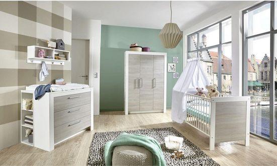 arthur berndt Babyzimmer-Komplettset »Toni«, (Set, 3-St), Made in Germany; mit Kinderbett, Schrank und Wickelkommode