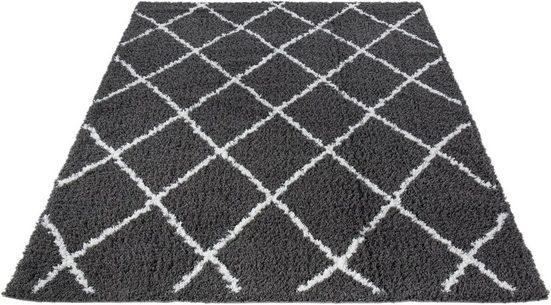 Hochflor-Teppich »Pula 79803«, LUXOR living, rechteckig, Höhe 35 mm, Rauten Design