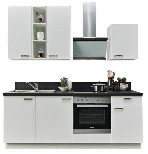 Express Küchen Küchenzeile »Bari«, mit E-Geräten, Breite 220 cm