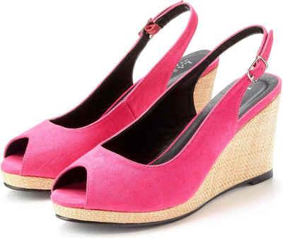 LASCANA Sandalette mit Keilabsatz