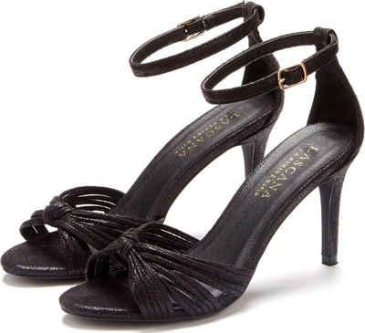 LASCANA High Heel Sandalette in Metallic Optik