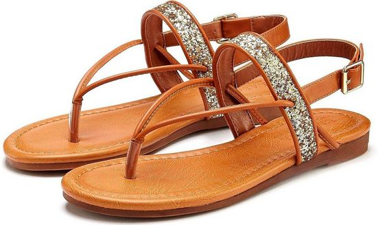LASCANA Sandale mit Glitzer