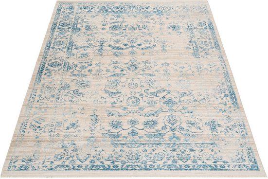 Teppich »Dilara«, andas, rechteckig, Höhe 5 mm, Vintage-Optik, mit Fransen