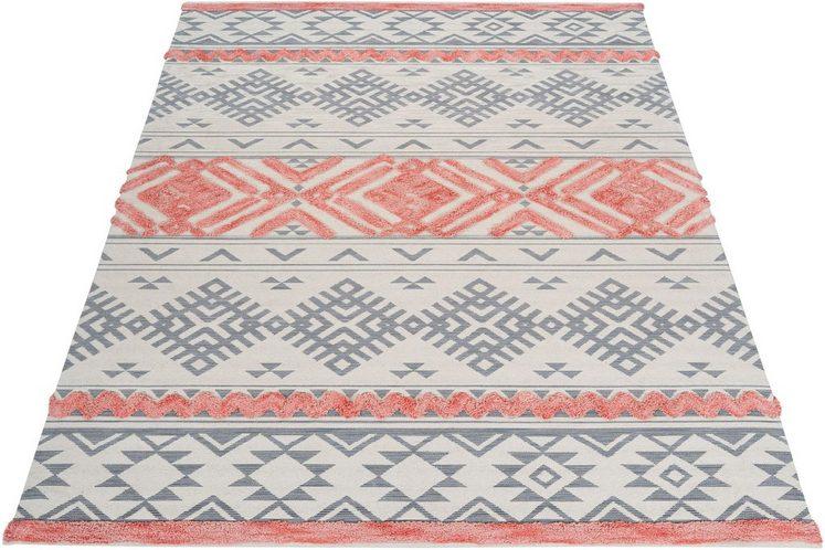 Teppich »Darius«, andas, rechteckig, Höhe 10 mm, Hoch-Tief, Pastell