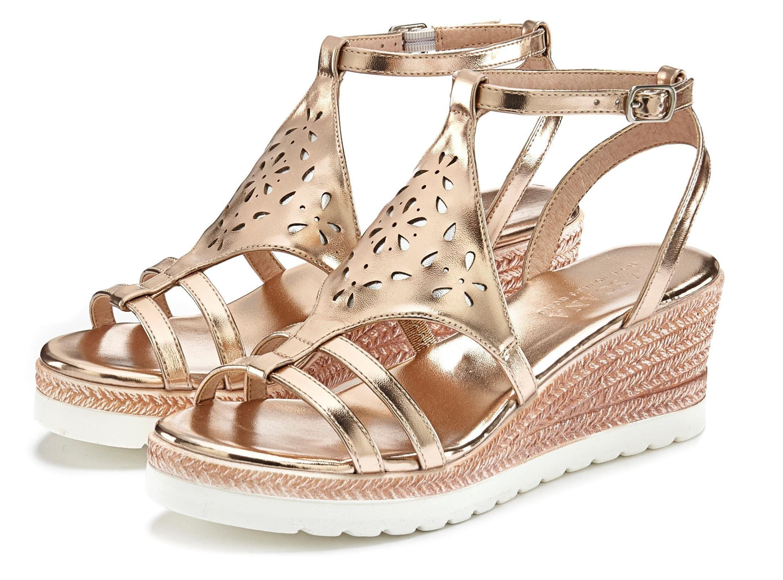 LASCANA Sandalette mit Keilabsatz und modischem Cut Out Muster online kaufen   OTTO