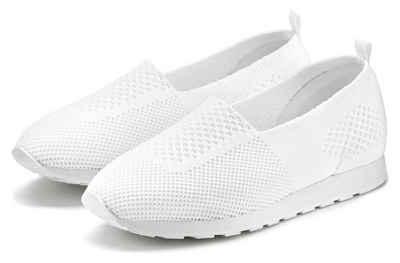 LASCANA Slip-On Sneaker aus Textil