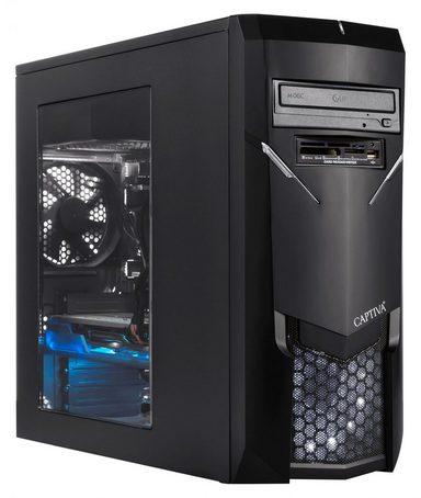 CAPTIVA G12AG 19V2 Gaming-PC (AMD Ryzen 7, 16 GB RAM, 1000 GB HDD, 240 GB SSD, Luftkühlung)