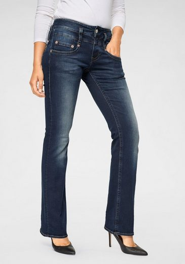 Herrlicher Bootcut-Jeans »PITCH BOOT« Low Waist mit leichtem Push-Up-Effekt