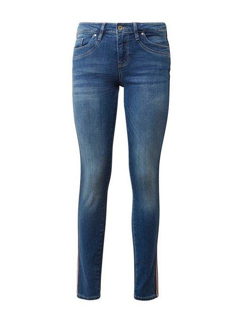 TOM TAILOR Röhrenjeans »Alexa slim« mit coolem Galon-Streifen an der Seitennaht | Bekleidung > Jeans > Röhrenjeans | Tom Tailor