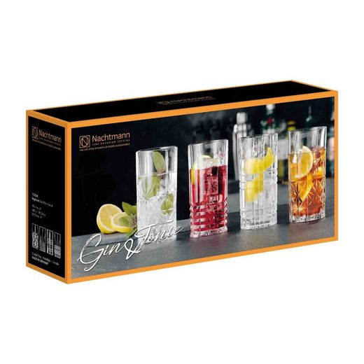 Nachtmann Cocktailglas »Gin & Tonic Longdrink Gläser Set 4-teilig«, Glas