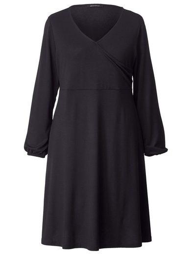 Sara Lindholm by Happy Size Jersey-Kleid in Wickeloptik
