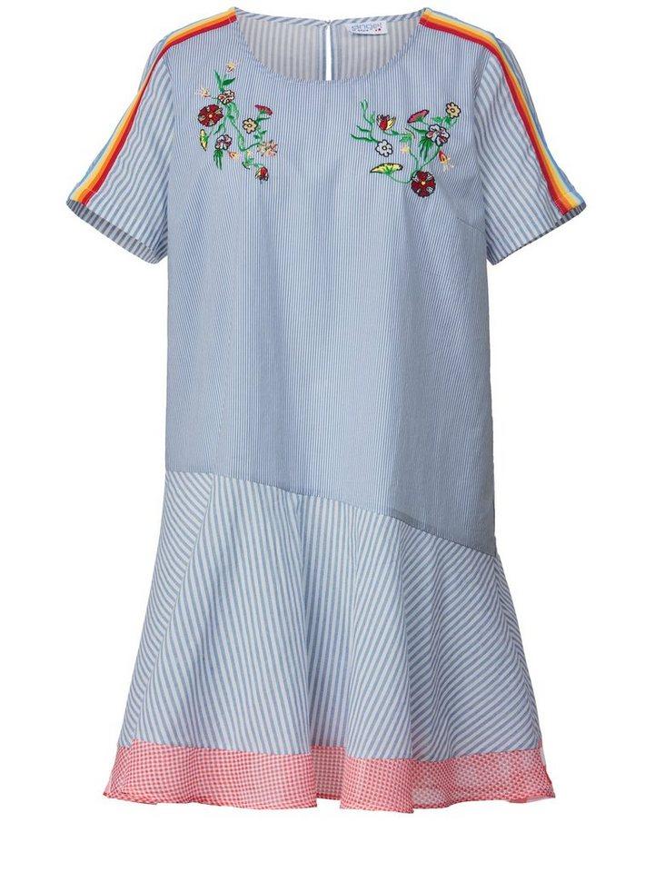 Angel of Style by Happy Size Kleid gestreift mit Stickerei ...