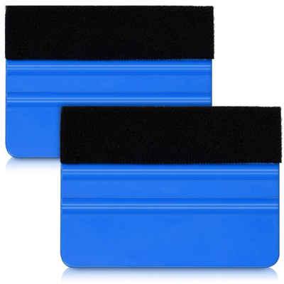 kwmobile Glasschaber Folienrakel Set mit Filzkante - 2x Folien Rakel für z. B. Tönungsfolie Fensterfolie Wandtattoo Fliesen Aufkleber - Folierungswerkzeug