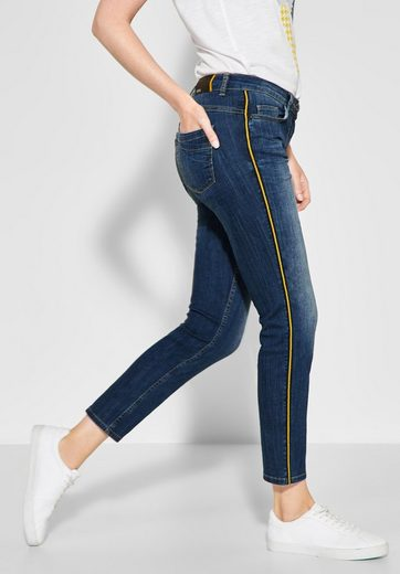 Cecil Slim-fit-Jeans mit Galonstreifen in Kontrastfarbe