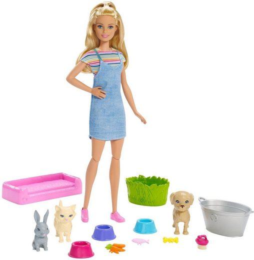 Mattel® Anziehpuppe »Barbie Badespaß Spielset Tiere und Puppe«