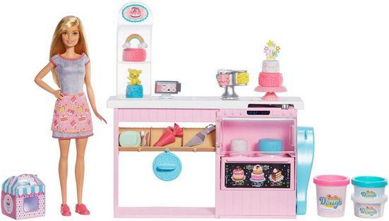 Mattel® Anziehpuppe »Barbie Tortenbäckerei Spielset mit Puppe, blond«