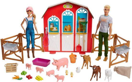 Mattel® Anziehpuppe »Barbie Bauernhof Spielset mit 2 Puppen«