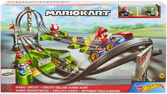 Hot Wheels Spiel-Gebäude »Mario Kart Mario Rundkurs Rennbahn Trackset«