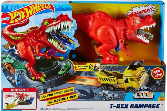 Hot Wheels Spiel-Parkgarage »City T-Rex Attacke«, beweglich, mit Sound