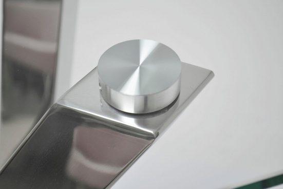 Leonique Konsolentisch »Micado«  mit blattförmigem Fuß aus Chrom  im modernen Design