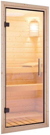 KARIBU Saunatür klar, für 38 und 40 mm Wandstärke