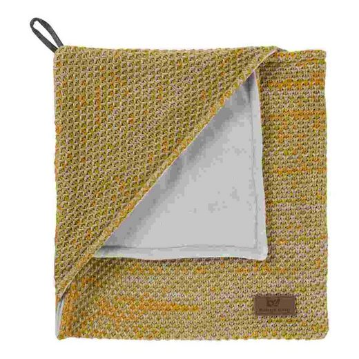 BabysOnly Handtuch »Nickistoff River ocker/grau melee«