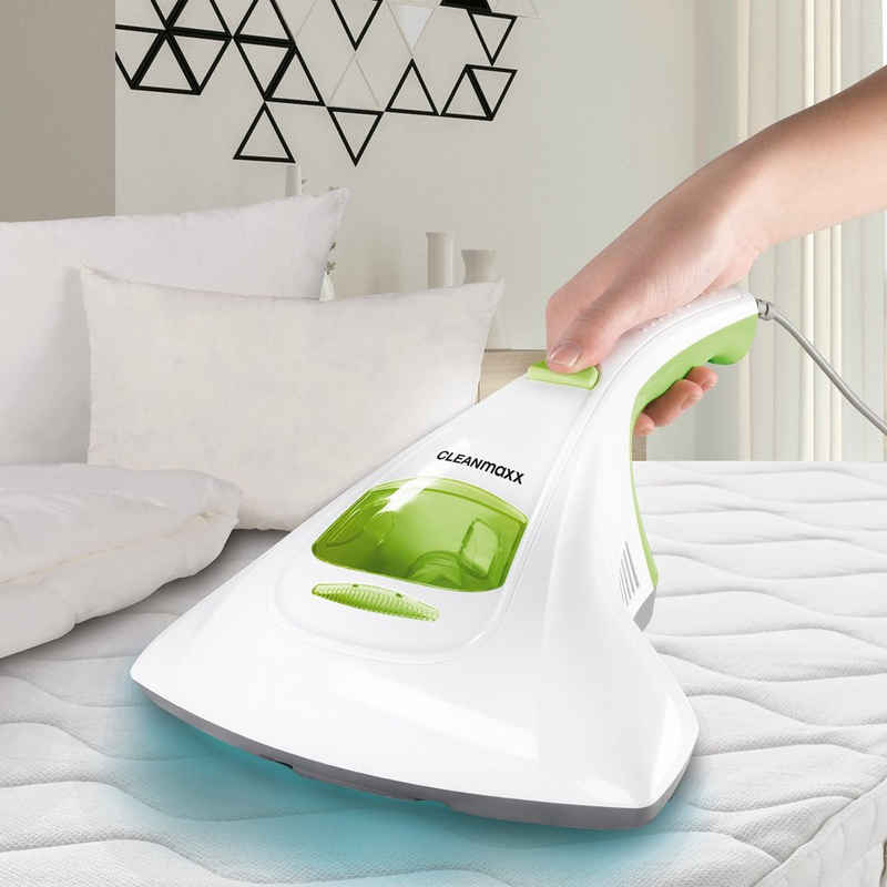 CLEANmaxx Matratzenreinigungsgerät CLEANmaxx Milben-Handstaubsauger mit UV-C-Licht 300W in Weiß/Limegreen 300, Milben-Handstaubsauger limegreen