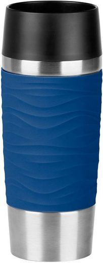 Emsa Thermobecher »Travel Mug Wave«, Edelstahl, Silikon, Kunststoff, 360 ml