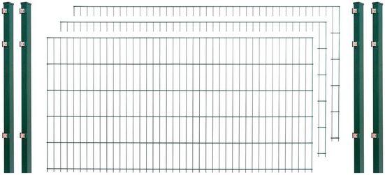 Arvotec Einstabmattenzaun, (Set), 120 cm hoch, 3 Matten für 6 m, 4 Pfosten