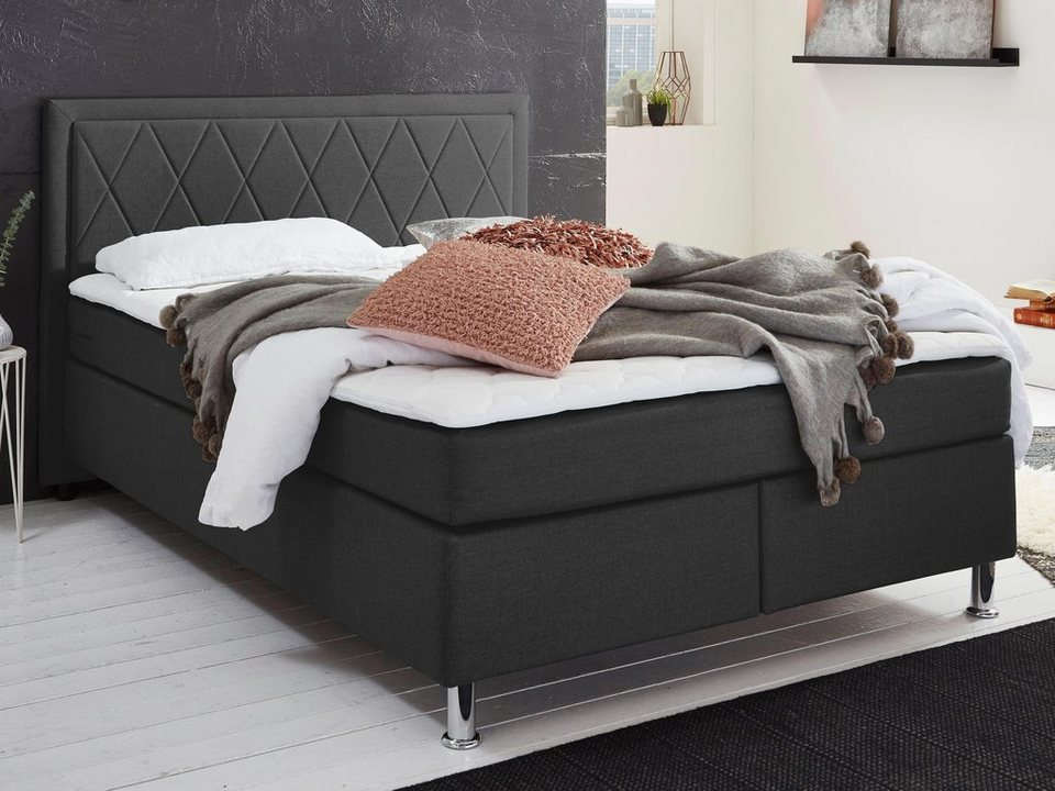 Atlantic Home Collection Boxbett Mit Tonnentaschenfederkern Matratze Und Topper Wahlweise Mit Bettkasten Online Kaufen Otto